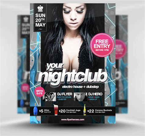 free club flyer templates photoshop 32 awesome free psd flyer templates web graphic design