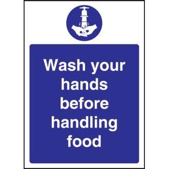 Bathroom Sink Bowls wash hands before handling food sign ireland