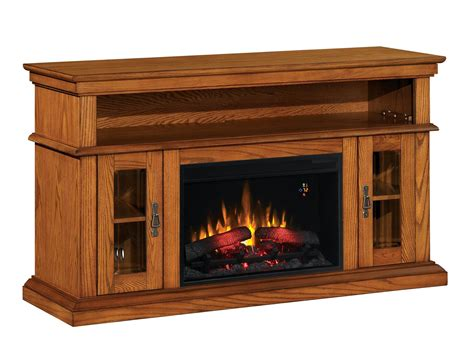 oak tv stand with fireplace fireplace 54 quot tv stand