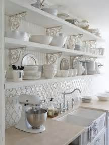 White Backsplash Tile For Kitchen by More Kitchen Dreaming