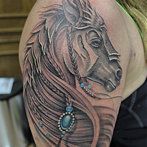 feminine gladiator horse by capone tattoonow