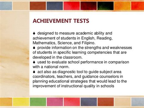 how to measure the accomplishment of the student dr ir identifying test objective assessment of learning ces