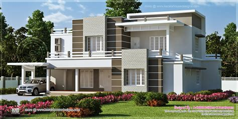 modern style home plans beautiful sober color contemporary home design kerala