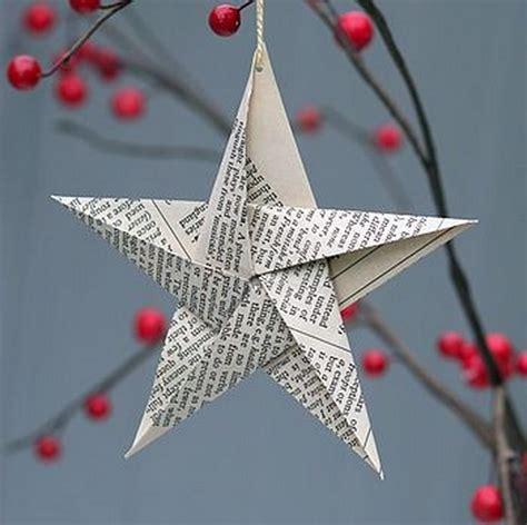Paper Winter Decorations - basteln mit papier weihnachtsdeko aus papier kreieren