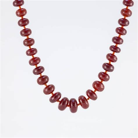 big bead jewelry large orange garnet bead necklace for sale at 1stdibs