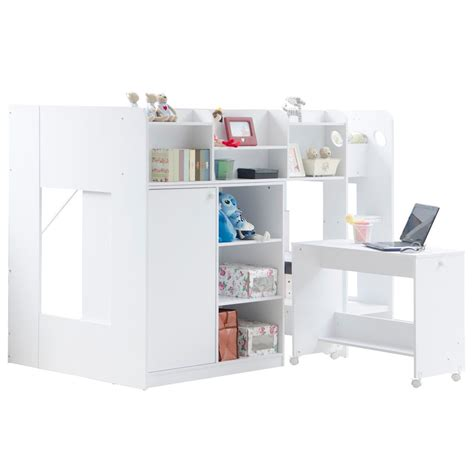 Wizard High Sleeper wizard high sleeper workstation bed in white flair
