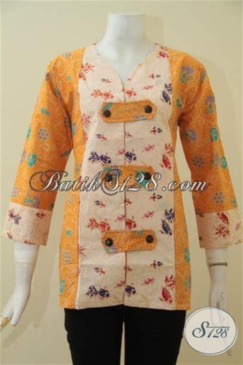 desain baju batik remaja putri baju batik printing dua motif warna terang batik blus