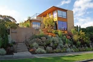 Front yard hillsidebanyon tree design studioseattle wa