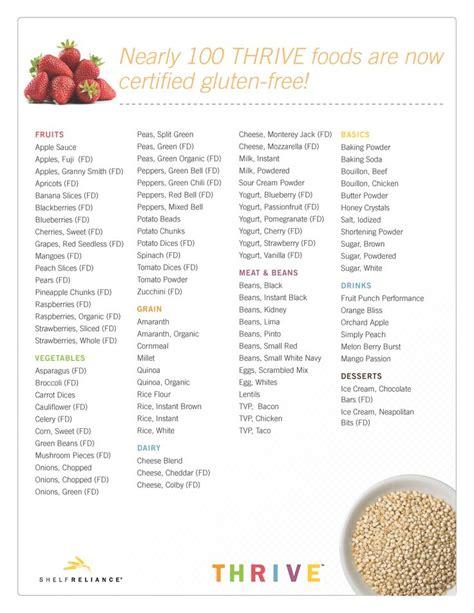 printable grocery list of gluten free foods gluten free food list 98 certified gluten free foods