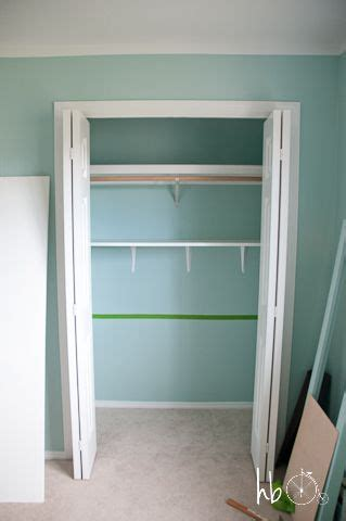 diy closet shelving craft room