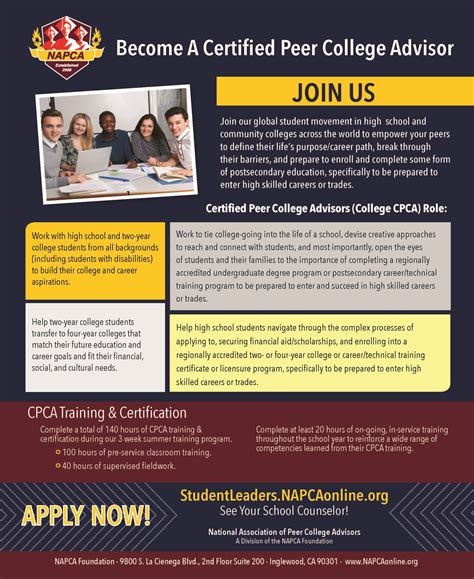 certified college advisor become a certified peer college advisor cpca 174 national