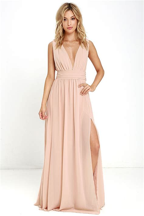 lulu s blush gown maxi dress sleeveless maxi dress 84 00