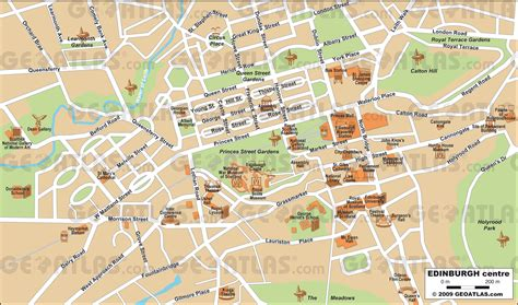 printable street map edinburgh geoatlas city maps edinburgh map city illustrator