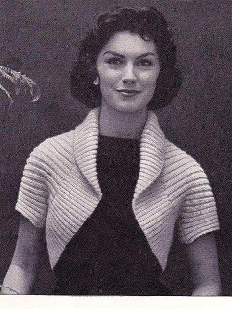 50s knitting patterns knitting pattern 50 s ribbed shrug zilredloh