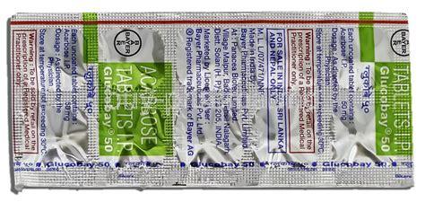 Glucobay Tablet 50 Mg glucobay buy glucobay