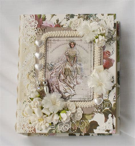 Handmade Wedding Photo Album - wedding handmade chipboard scrapbook photo album