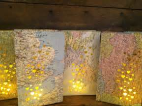 travel theme decor map luminary bags 10 travel theme decor made to order