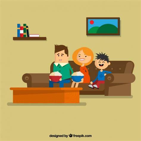 seduta sul famiglia seduta sul divano scaricare vettori gratis
