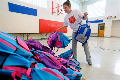 Salvation Army School Supply Giveaway - salvation army giveaway with tools for schools the blade