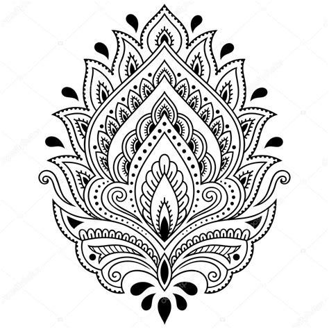 henna tattoo prijs henna bloem sjabloon in indiase stijl etnische