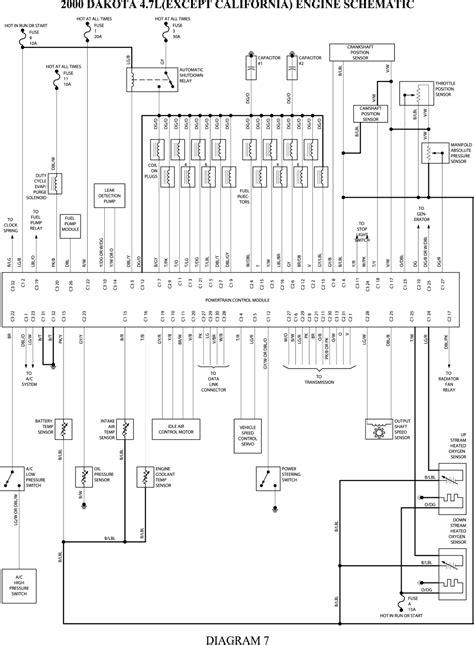 schematics and diagrams: 2000 Dodge Dakota 4.7L Engine