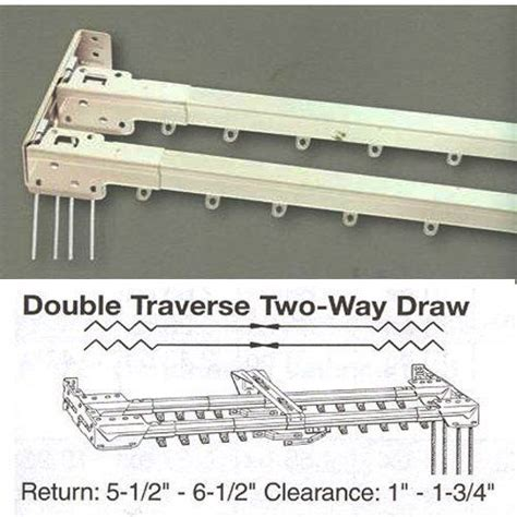 kirsch traverse curtain rods 48 quot 86 quot double traverse curtain rod by kirsch by kirsch
