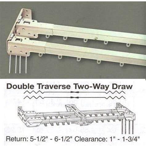 traverse curtain rod parts kirsch decorative double traverse rod iron blog