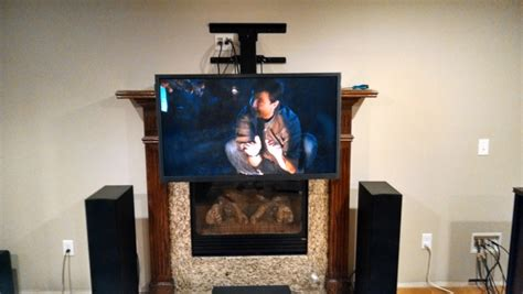 Fireplace With Tv Mount by Above Fireplace Tv Mount And Out Mount Mtbr