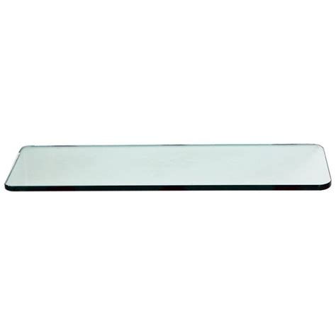 Floating Glass Shelves 3 8 In Rectangle Glass Corner Glass Shelves Home Depot