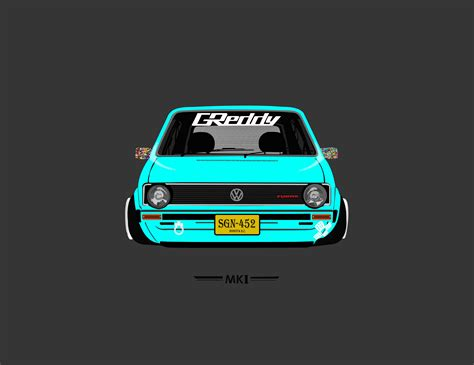 wallpaper car volkswagen mk1 volkswagen tuning artwork vehicle car wallpapers