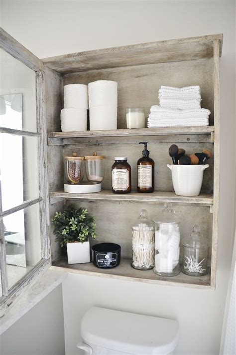 Vintage Bathroom Storage Ideas Diy Bathroom Cabinet Antique Windows Bathroom Storage And Easy