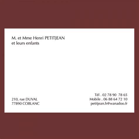 Modèle Carte De Visite Personnelle carte de visite personnelle classique grand format 82 x