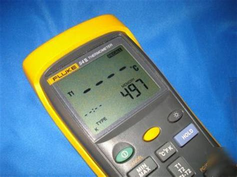 Original Fluke 54 Ii B Dual Input Digital Thermometer With Data fluke 54 ii dual input digital thermometer 54ii