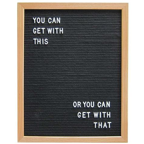 Letter Board 16 Quot X 20 Quot Wood Frame Letter Board Black Three Potato Four