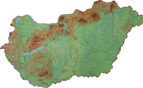 physical map of hungary hungary about hungary net