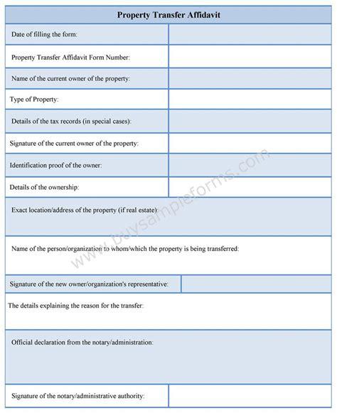 affidavit templates word format