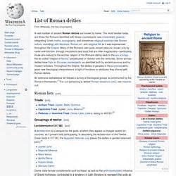 list of roman deities wikipedia the free encyclopedia roman gods greek mythology pearltrees
