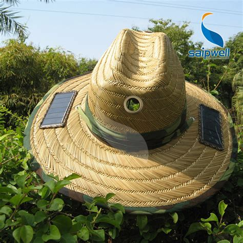 solar powered fan hat lierihattu with cooling cool fan