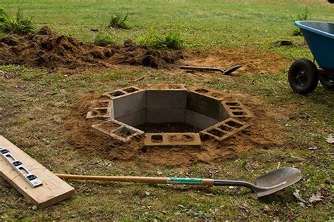 diy pit in the ground diy in ground cinder block firepit gentlemint