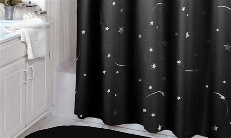 glow in the dark curtains glow in the dark shower curtains groupon goods