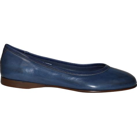 navy flat shoes clara dip dyed navy blue nappa leather ballerina flat