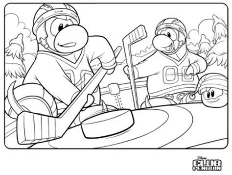 penguins hockey coloring pages echo006 in club penguin hockey colouring page