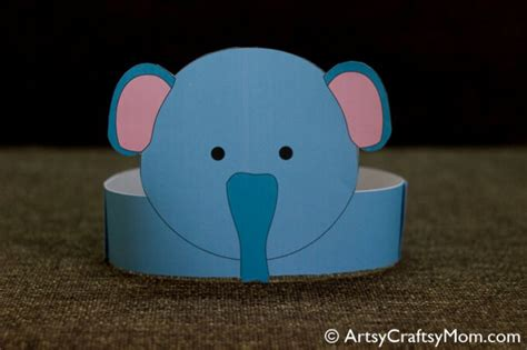 printable paper animal hats 12 adorable animal party printable hats for a jungle party