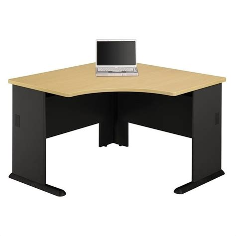 Beech Corner Desk Bush Bbf Series A 48 Quot Corner W Hutch Beech Computer Desk Ebay