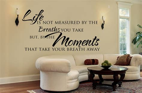 Living Room Quotes For Wall - living room wall decals inspirational quote