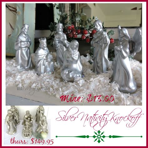 silver inspired nativity what meegan makes