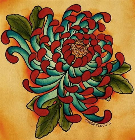 chrysanthemum tattoo design 20 awesome chrysanthemum designs