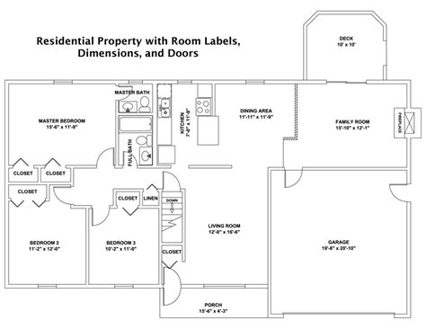 Sample Floor Plans With Dimensions by Custom Drawn Cad Floor Plans And Other Services For Real