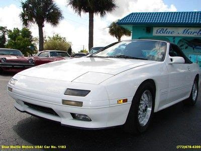 car owners manuals for sale 1991 mazda rx 7 regenerative braking sell used 1991 rare mazda rx 7 convertible manual trans 1 3l rotary very clean in stuart
