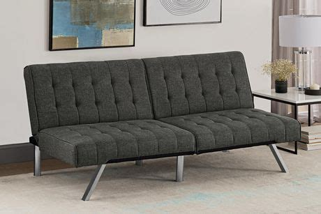 emily convertible futon gray linen dhp emily linen futon walmart ca
